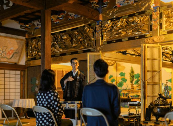 【ガーデンテラスオリジナル 大人の社会科見学】光源寺 朝のお勤め体験
